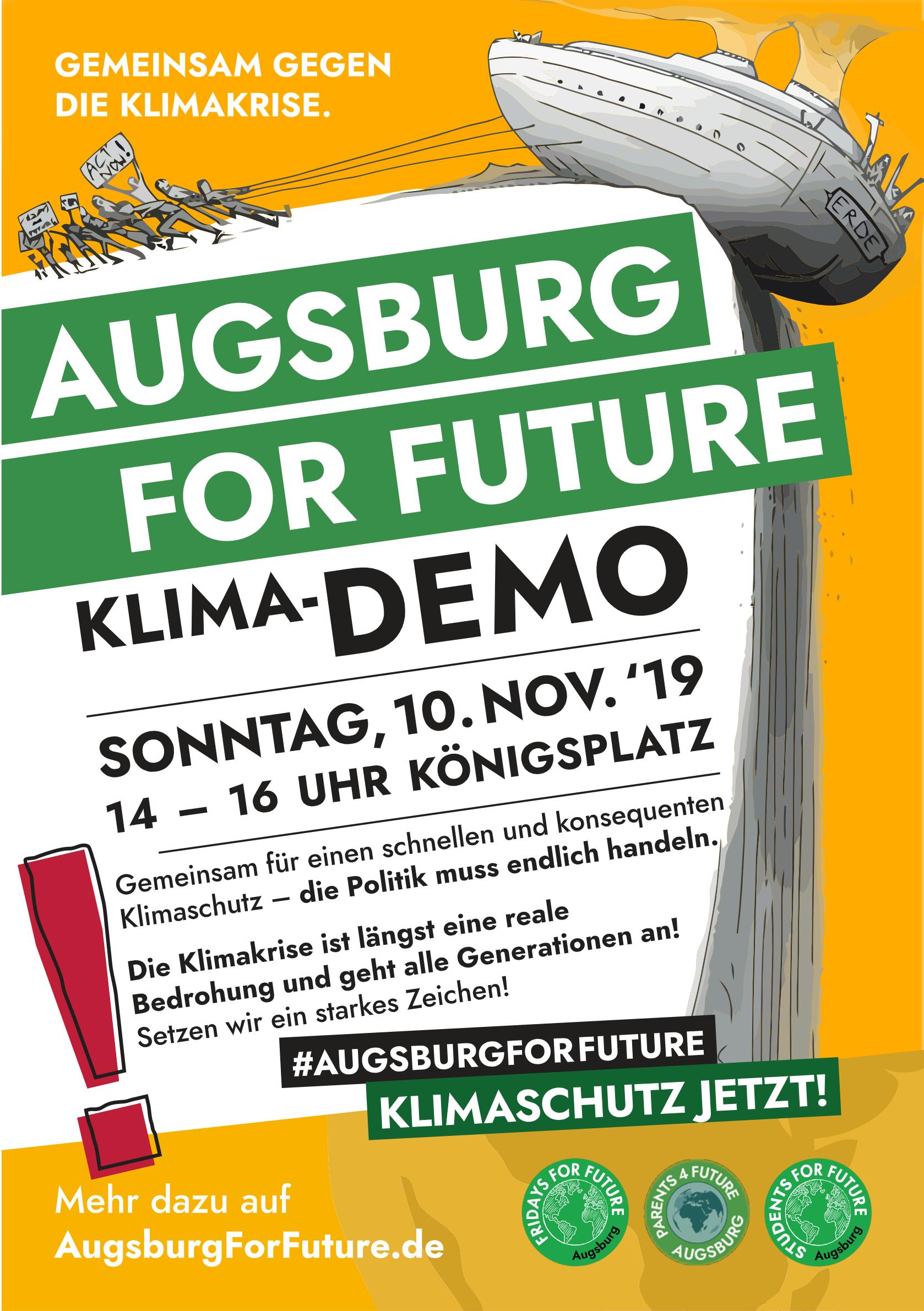 FFF-Demo Ausgburg 10.11.2019