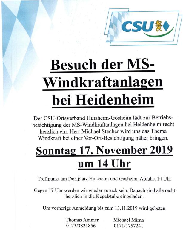 CSU Huisheim Gosheim